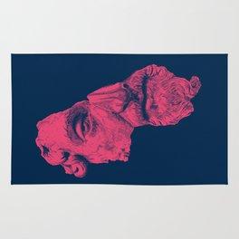 MARCUS AURELIUS ANTONINUS AUGUSTUS / prussian blue / vivid red Rug