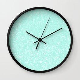 Mint Pattern #3 #Granite #Speckles #decor #art #society6 Wall Clock