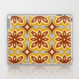 Pumpkin Spice Ikat Flowers Laptop & iPad Skin