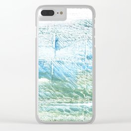 Mint cream abstract watercolor Clear iPhone Case
