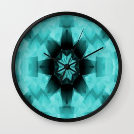 Teal Starry Starry Night.... Wall Clock