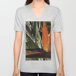 Bird of Paradise Strelitzia Unisex V-Neck