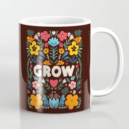 GROW floral Coffee Mug