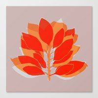 spice Canvas Prints featuring Blossom Spice by Garima Dhawan