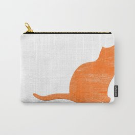 Vintage Orange Airplane Art Print Carry-All Pouch