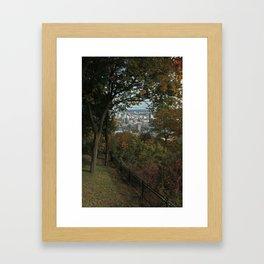 Montreal Peep Hole Framed Art Print