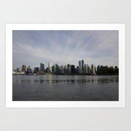 Vancouver BC Skyline Art Print