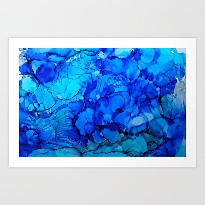 Blue Petunias Kunstdrucke