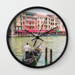 Gondola on Venice Grand Canal   Italy Europe Street City Architecture Photography Wall Clock
