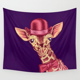 I'm too SASSY for my hat! Pink Giraffe. Wall Tapestry