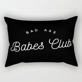 BAD ASS BABES CLUB B&W Rectangular Pillow