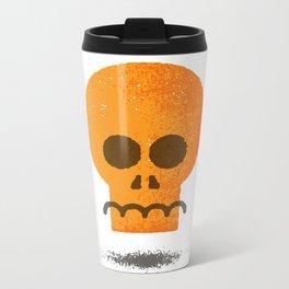 Floating Skull Metal Travel Mug
