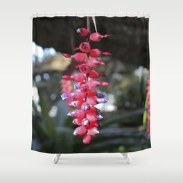red exotic flower Shower Curtain