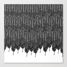 Black & White Feather Wilderness Canvas Print