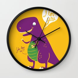 The Friendly T-Rex Wall Clock
