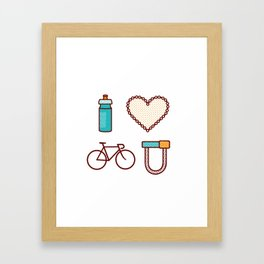I ♥ 2 Ride U Framed Art Print