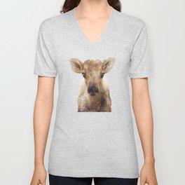Little Reindeer Unisex V-Neck