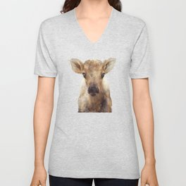 Little Reindeer Unisex V-Neck