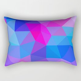 Magenta Blacklight Low Poly Rectangular Pillow