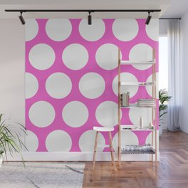Pink Large Polka Dots Wall Mural