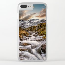 Cwm Idwal Snowdonia Sunset Clear iPhone Case