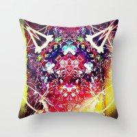 kafka Throw Pillows featuring franz kafka - by stoneRage