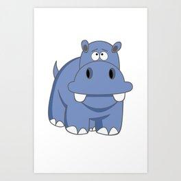 Hippo Po Art Print