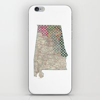 alabama iPhone & iPod Skins featuring Alabama by judy lee