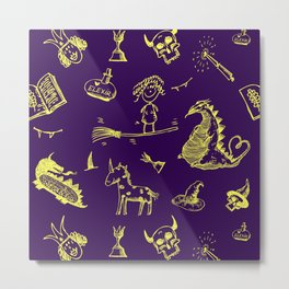 Magic symbols Metal Print