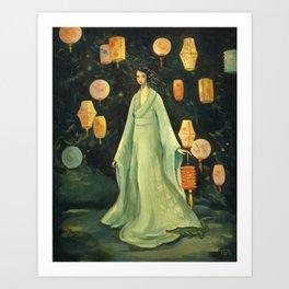 The Lantern Garden Art Print