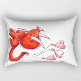 Tricerahearts Rectangular Pillow