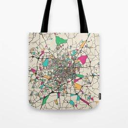 Colorful City Maps: Greensboro, North Carolina Tote Bag