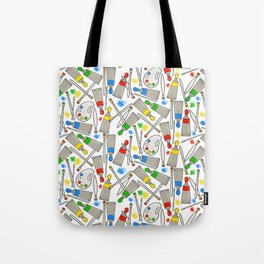 Time to Paint (white) Tote Bag