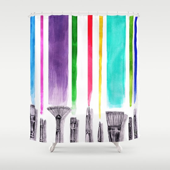 Paint brushes Shower Curtain