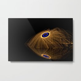 Blue Ring Metal Print