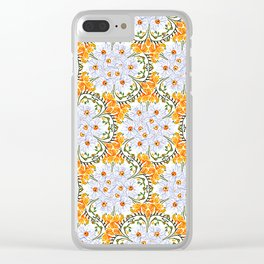 Freesia Floral Clear iPhone Case