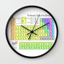 The Periodic Table of Eements Wall Clock
