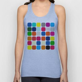 Crazy Color Buttons Unisex Tank Top