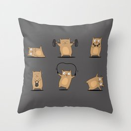 FITNESS CAT Throw Pillow