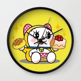 Dorami Eating Wall Clock