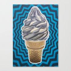 Ice Cream Soft-Serve Cone Canvas Print
