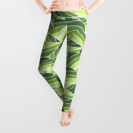 GREENERY LEAVES W  (abstract flowers nature) Leggings