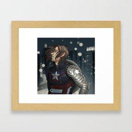 CAPTAIN IN THE WIND Framed Art Print