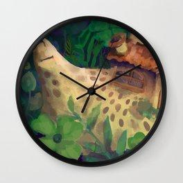 snail home Wall Clock