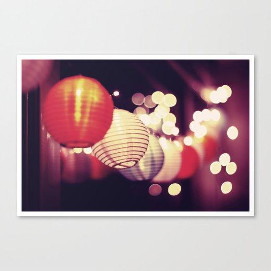 Christmas lights 2 Canvas Print