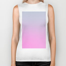 UNLIKE OTHER - Minimal Plain Soft Mood Color Blend Prints Biker Tank