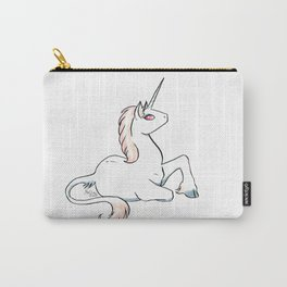 Salmon colored unicorn Carry-All Pouch