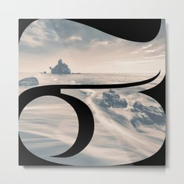 Nr. 3 | Numbers with a View | Typography Letter Art Metal Print