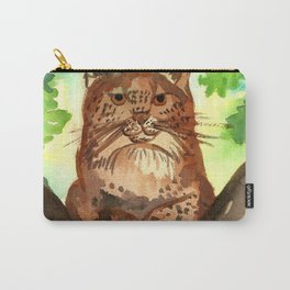 Lynx in the Forest Carry-All Pouch