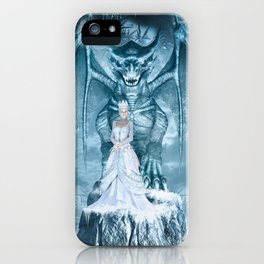Ice Queen and Dragon iPhone Case